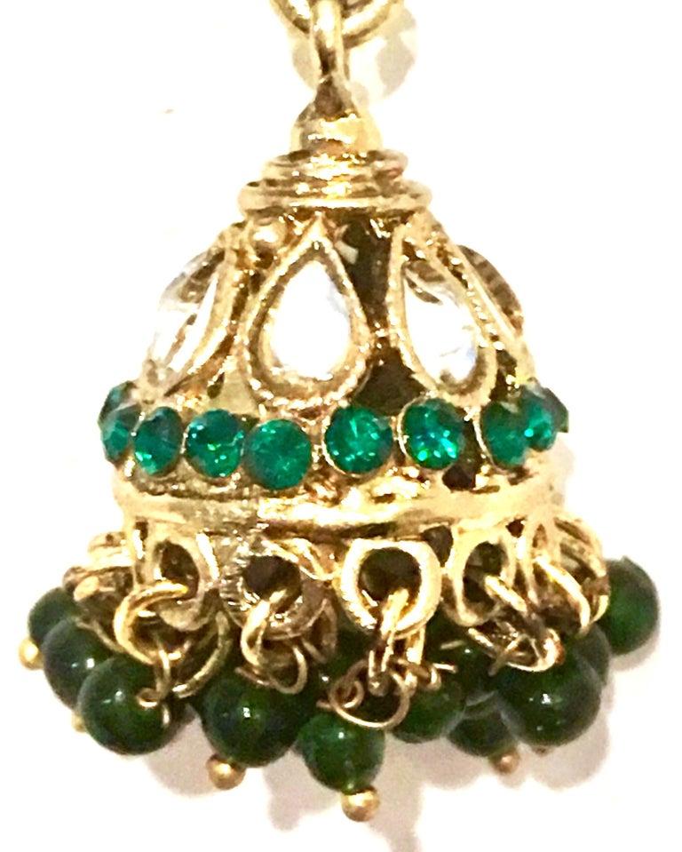 20th Century Gold Glass & Enamel Drop Earrings For Sale 10