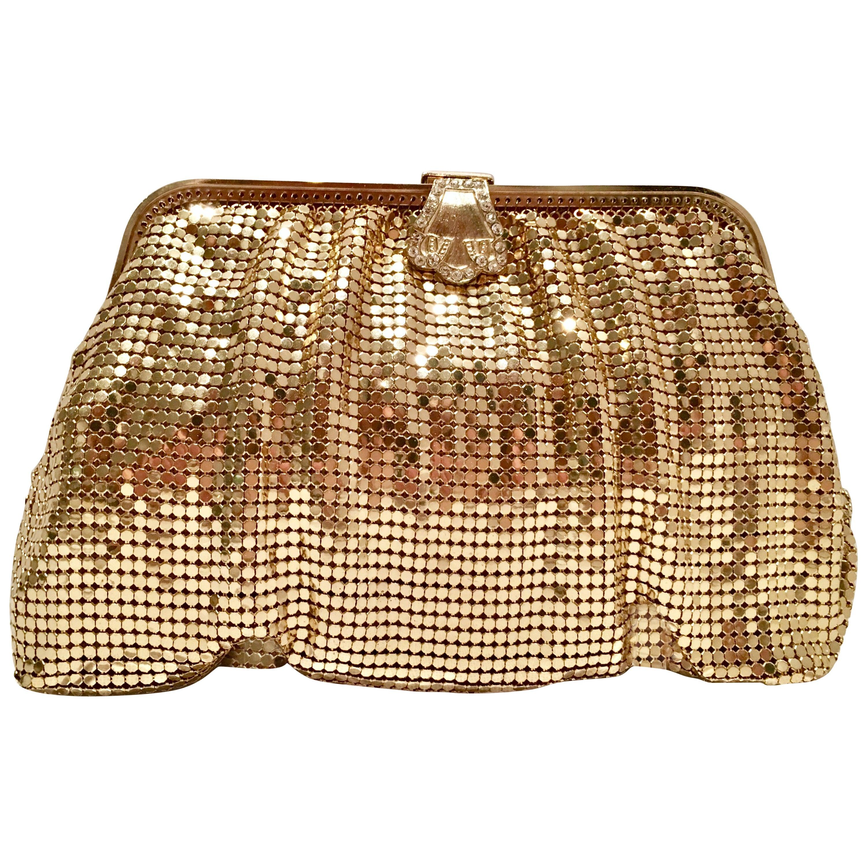 Vintage Pattern Gold ~Multi-Color~ Austrian Crystal Evening Cocktail Bag