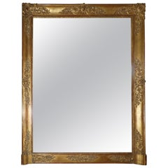 20th Century Gold Patinated French Mirror