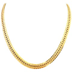20th Century Gold Plate Choker Necklace By, Monet