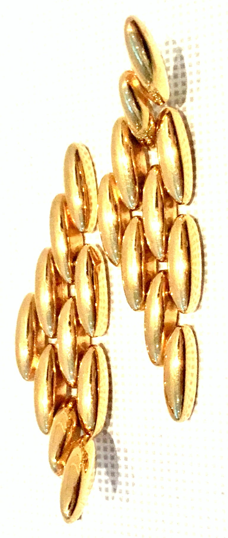 20th Century Gold Plate Link Drop Earrings By, Napier In Good Condition For Sale In West Palm Beach, FL