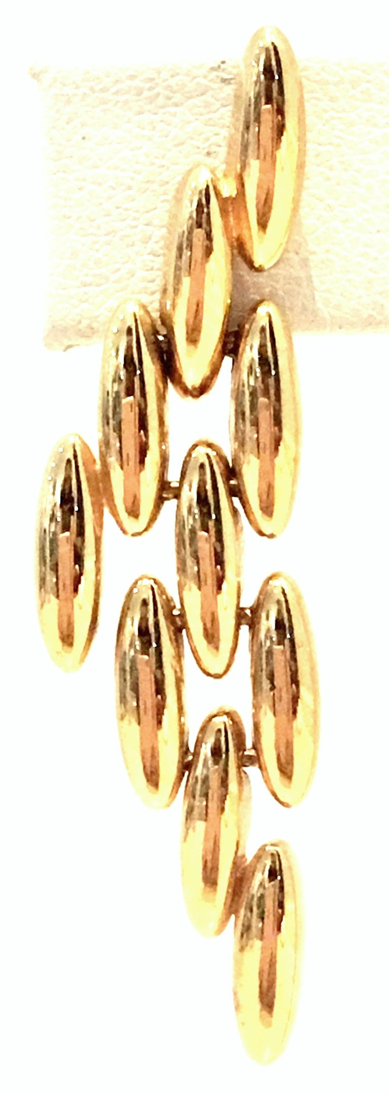 20th Century Gold Plate Link Drop Earrings By, Napier For Sale 4