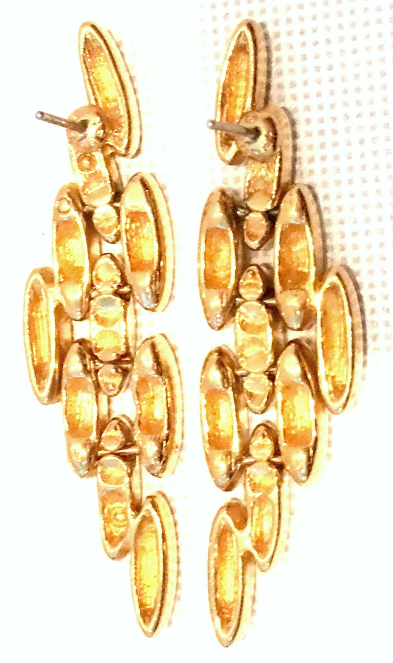 20th Century Gold Plate Link Drop Earrings By, Napier For Sale 5