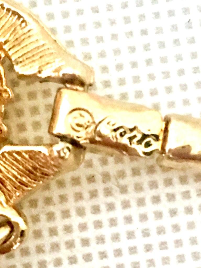 20th Century Gold & Swarovski Crystal Link Style Bracelet By, Coro For Sale 5