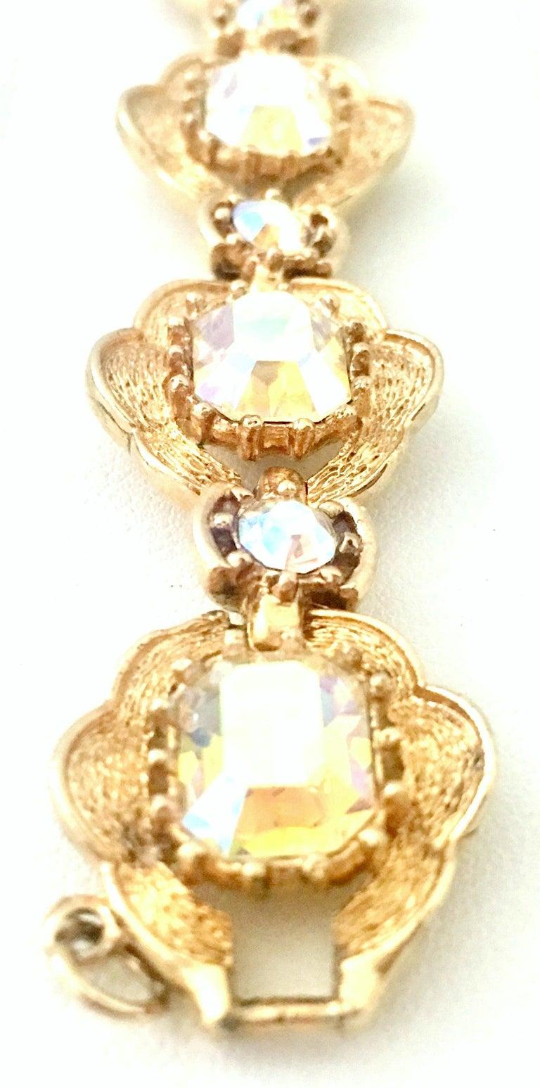 20th Century Gold & Swarovski Crystal Link Style Bracelet By, Coro For Sale 3