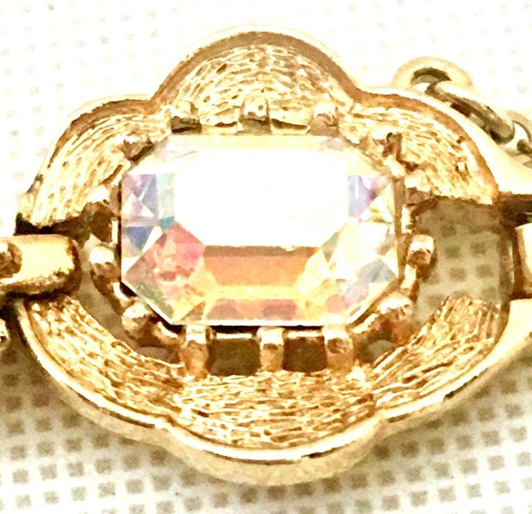 20th Century Gold & Swarovski Crystal Link Style Bracelet By, Coro For Sale 4