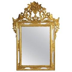 20th Century Gold Wood Spanish Mirror, 1950