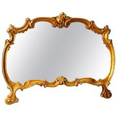 20th Century Golden Wood Italian Mirror, 1960