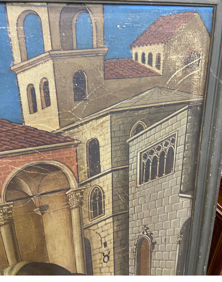 20th Century Gothic Painting Oil on Canvas Gentile da Fabriano, 1900s For Sale 3