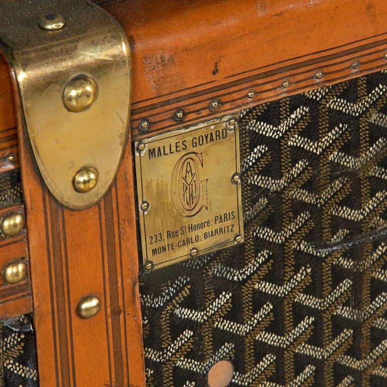 20th Century Goyard Large Wardrobe Trunk, circa 1920 For Sale 5