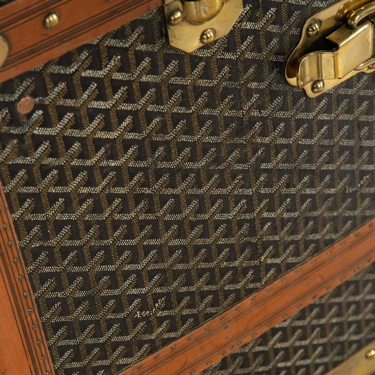 20th Century Goyard Large Wardrobe Trunk, circa 1920 For Sale 8