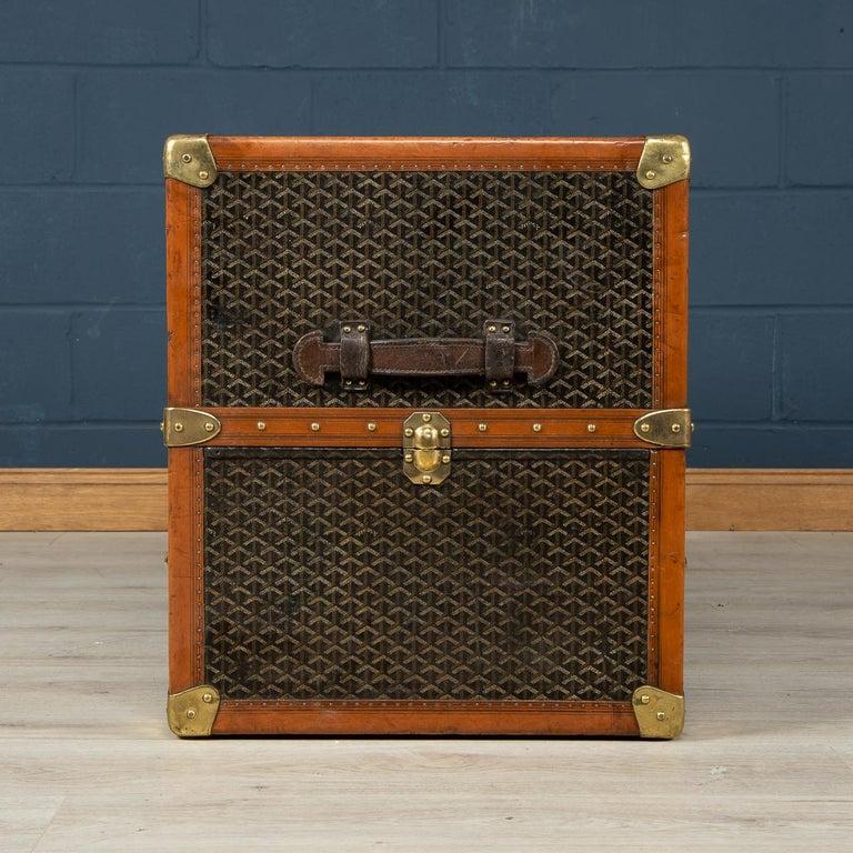 20th Century Goyard Large Wardrobe Trunk, circa 1920 For Sale 1