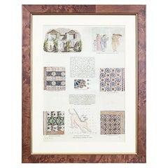 20th-Century Graphic / Antique, Mosaic