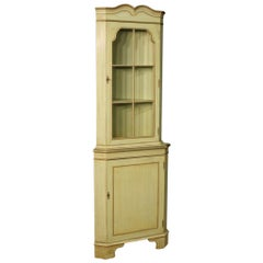 20th Century Green Lacquered and Giltwood Corner Cupboard, 1960