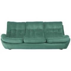 20th Century Green Velvet Atlantis Sofa, 1960s