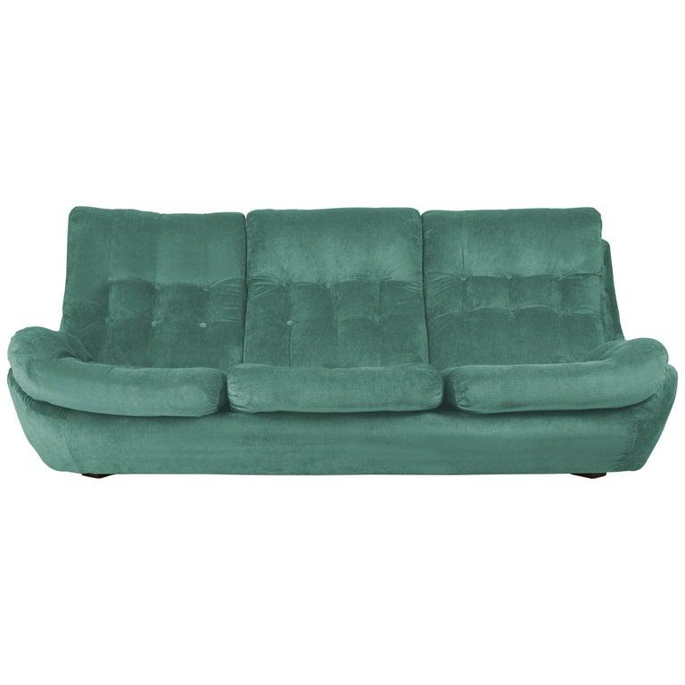 20th Century Green Velvet Atlantis Sofa, 1960s For Sale