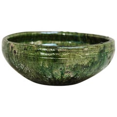 20th Century Greenglazed Terracotta Bowl