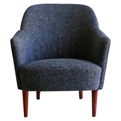 20th Century Grey Samspel Easy Chair by Carl Malmsten, Swedish Side Chair