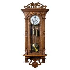 20th Century Gustav Becker Art Nouveau Wall Clock