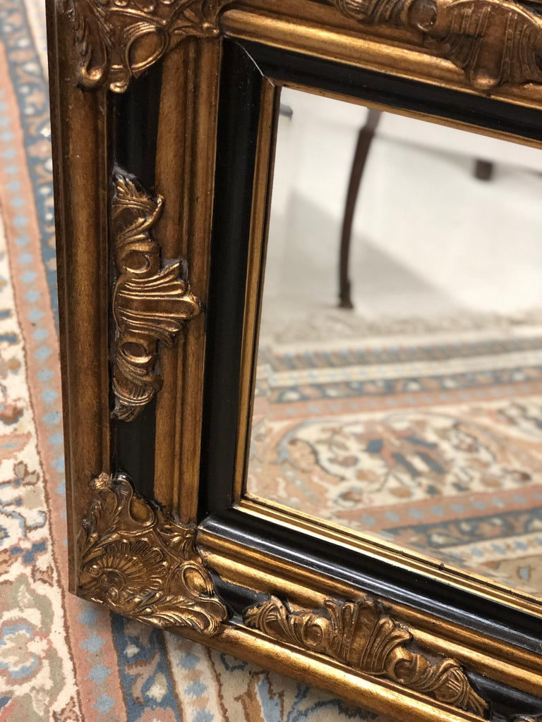 Very massive and impressive giltwood mirror with original crystal glass in Louis XV style. Very good condition. France, circa 1900.