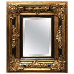 20th Century Hand Carved Giltwood Crystal Mirror in Louis XV Style