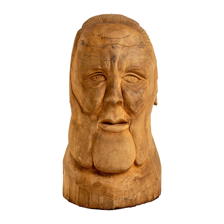 20th Century Hand Carved Wood Folk Art Sculpture by Duane Hansen