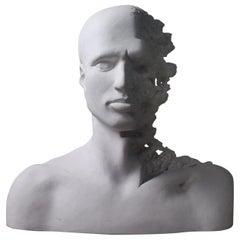 20th Century Herbert George Head No 19 Hydrocal Bust Sculptor