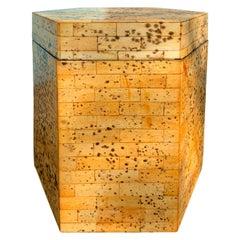 20th Century Hexagonal Wood Box