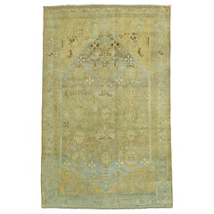 20th Century Honey Tone Persian Malayer Scatter Square Rug