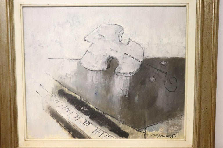20th Century Important Italian Artist Oil on Canvas by Franco Rognoni In Excellent Condition For Sale In Bosco Marengo, IT