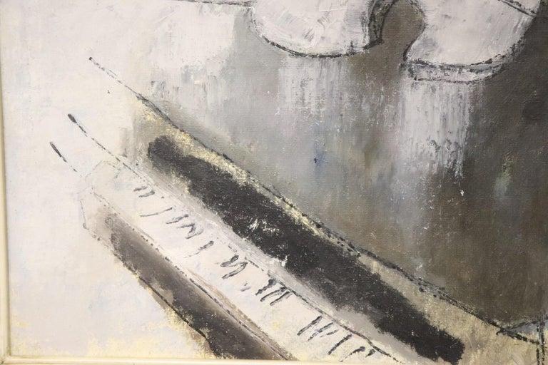 20th Century Important Italian Artist Oil on Canvas by Franco Rognoni For Sale 1