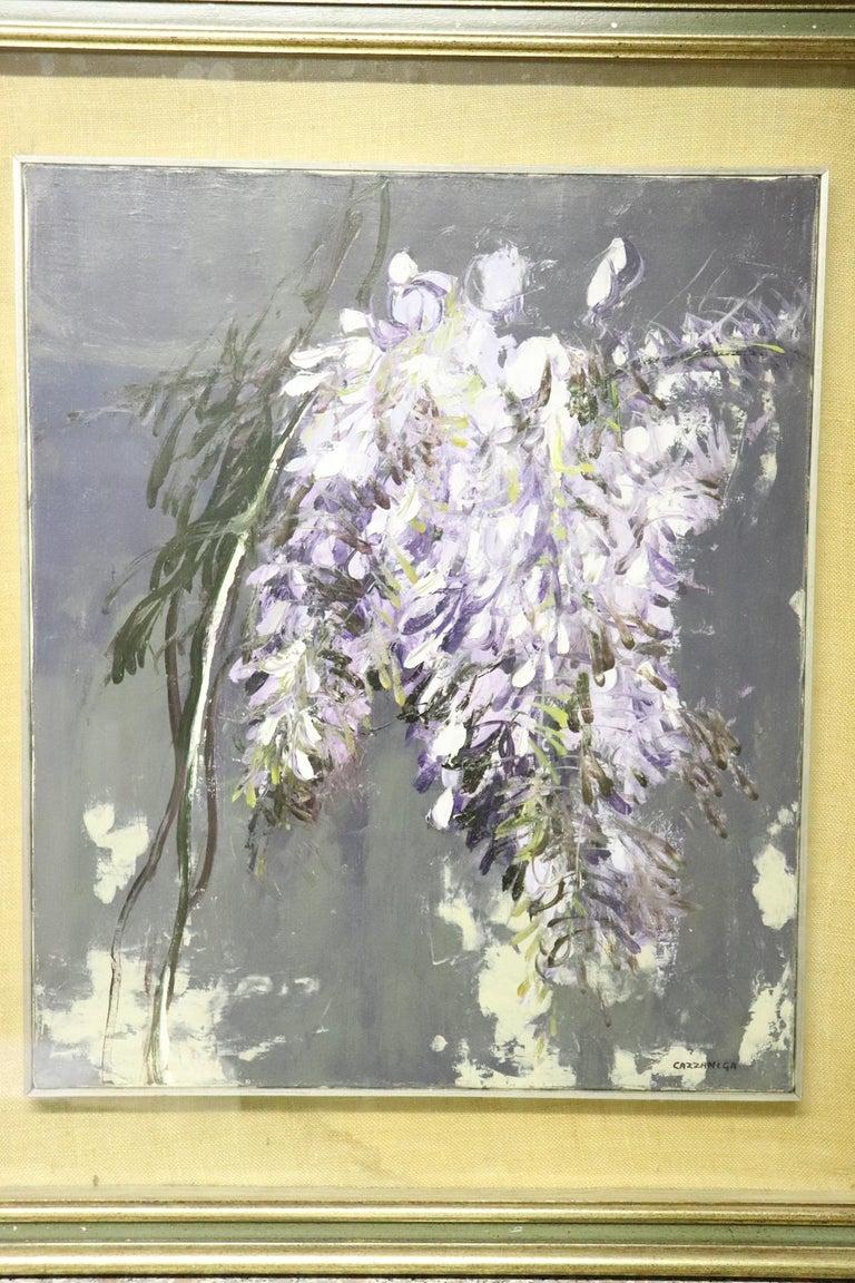 20th Century Important Italian Artist Oil on Canvas by Giancarlo Cazzaniga In Excellent Condition For Sale In Bosco Marengo, IT