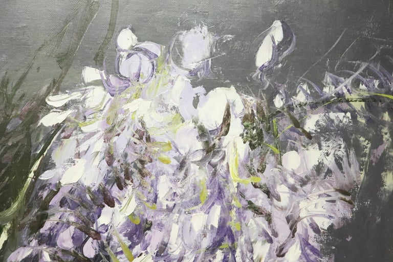 Mid-20th Century 20th Century Important Italian Artist Oil on Canvas by Giancarlo Cazzaniga For Sale