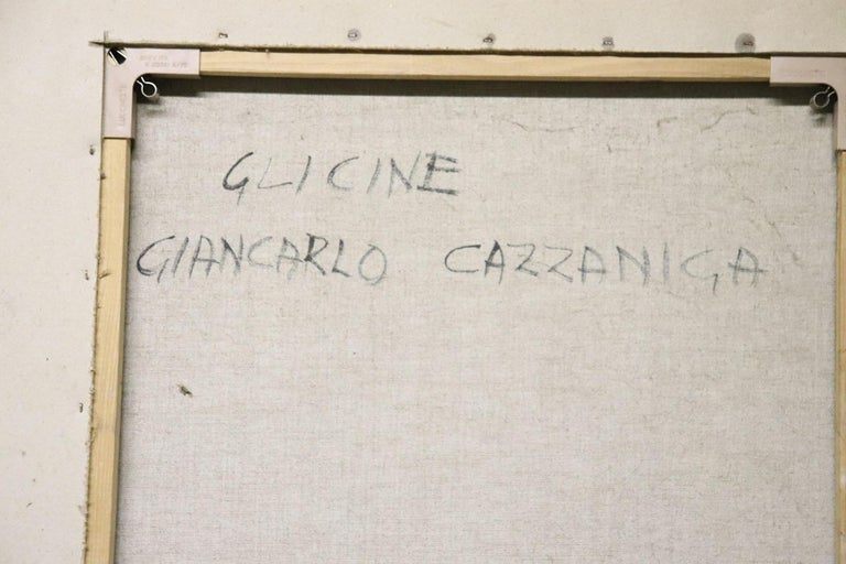 20th Century Important Italian Artist Oil on Canvas by Giancarlo Cazzaniga For Sale 4