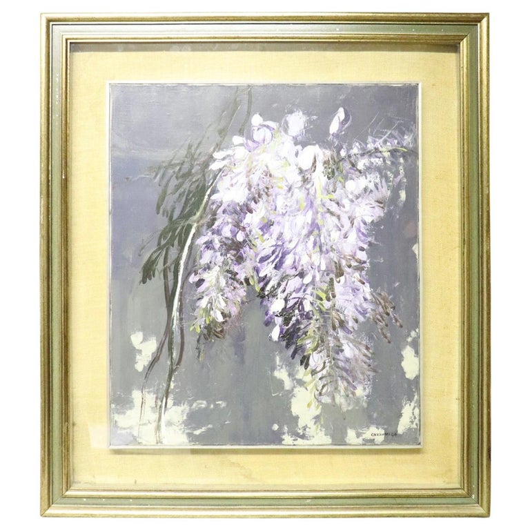 20th Century Important Italian Artist Oil on Canvas by Giancarlo Cazzaniga For Sale