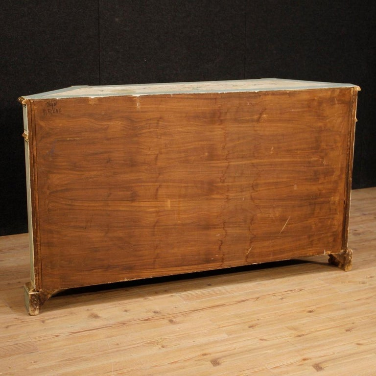 20th Century Painted And Gilded Wood Venetian Sideboard, 1960 For Sale 4
