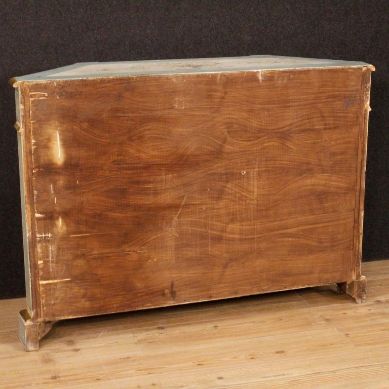 20th Century Painted and Gilded Wood Venetian Sideboard, 1970 For Sale 4