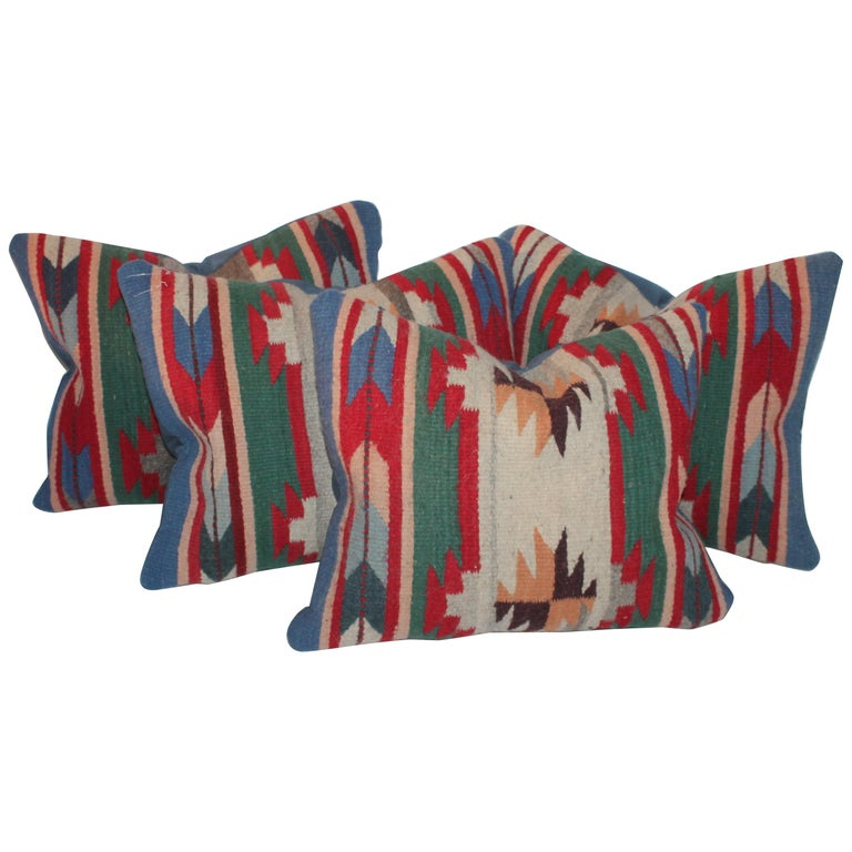 20th Century Indian Weaving Pillows For Sale