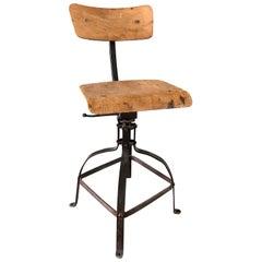 20th Century Industrial Chaise Beinaise, Workshop Chair