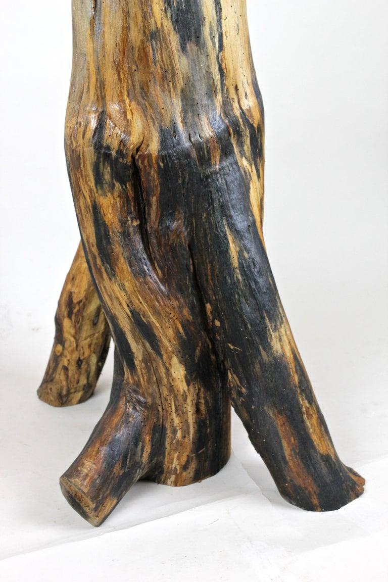 Iron 20th Century Industrial Modern Wooden Sculpture, Austria, circa 1915-1920 For Sale
