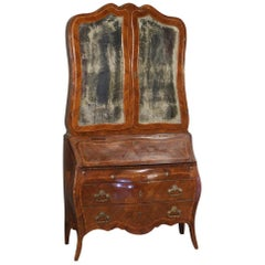 20th Century Inlaid Palisander and Rosewood Italian Trumeau, 1920