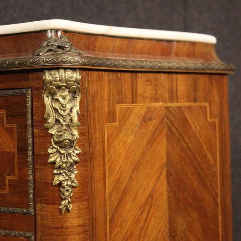 20th Century Inlaid Walnut Mahogany Maple Fruitwood French Secrétaire Desk, 1950 7