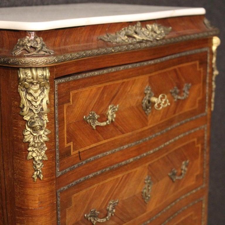 Mid-20th Century 20th Century Inlaid Walnut Mahogany Maple Fruitwood French Secrétaire Desk, 1950