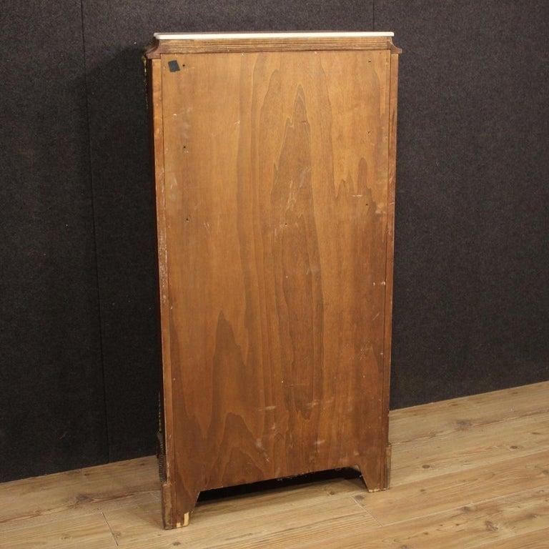 20th Century Inlaid Walnut Mahogany Maple Fruitwood French Secrétaire Desk, 1950 2