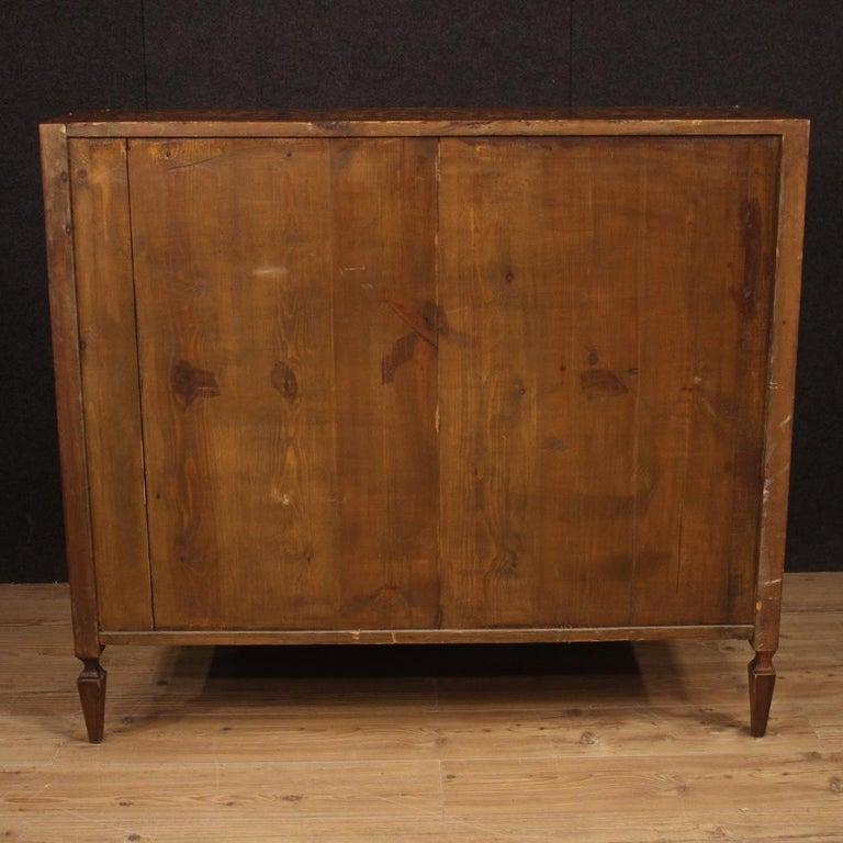 20th Century Inlaid Walnut Maple Cherry Fruitwood Italian Louis XVI Style Bureau For Sale 3