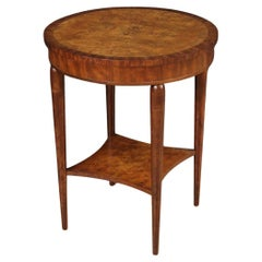 20th Century Inlaid Wood Art Deco Style French Side Table, 1950