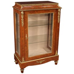 20th Century Inlaid Wood French Display Cabinet, 1960