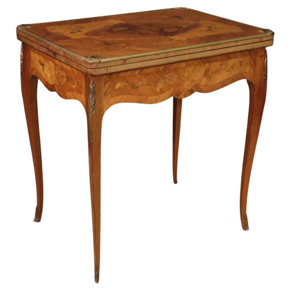20th Century Inlaid Wood French Game Table, 1960