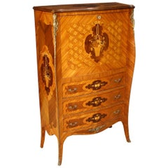 20th Century Inlaid Wood French Louis XV Bar Cabinet / Secrétaire, 1960