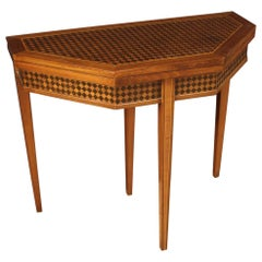20th Century Inlaid Wood French Openable Game Table, 1980